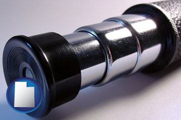 a telescope eyepiece - with Utah icon